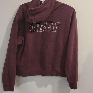 Obey Burgundy hoodie